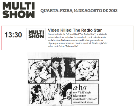 Video Killed The Radio Star a-ha na TV