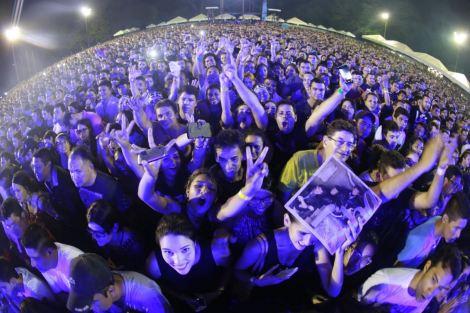 Público lota e comemora o show em Barcarena. Foto de Tarso Sarraf
